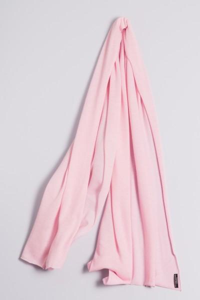 Étole cachemire en tricot fin rose