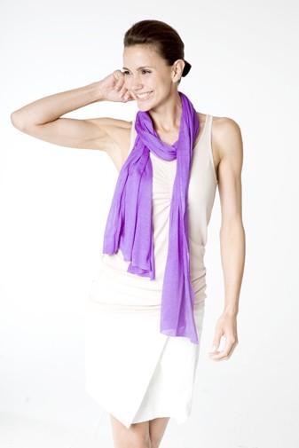 Jersey Silk Shawl violett