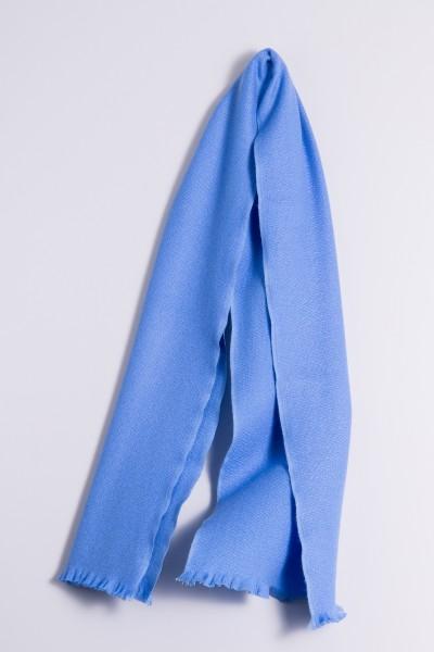 Écharpe d´hiver 100% cachemire bleu ciel