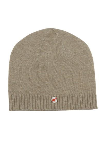 Kaschmirmütze Feinstrick natural grey
