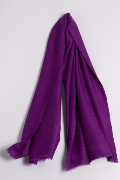 Cachemire écharpe handspun lilas