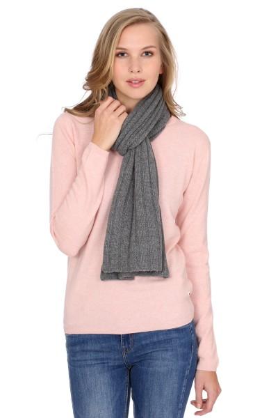 Écharpe en tricot 100% cachemire à 4 couches derby grey