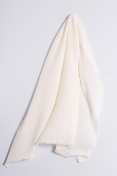 Pashmina naturel blanc