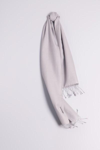 Pashmina 30x150cm gris argenté