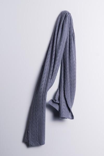 Écharpe en tricot torsadé anthracite