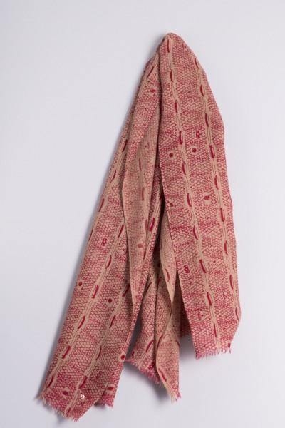 Écharpe côtelée naturel de Francfort beetroot pink