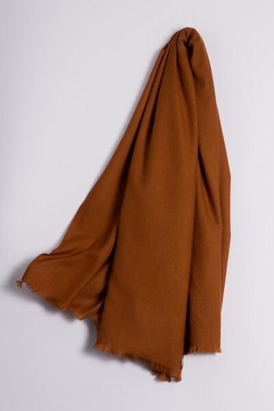 Pashmina 100% cachemire bronzé