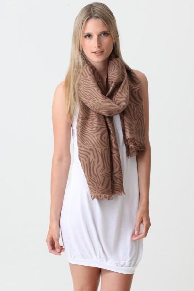 Pashmina Couture Print Zebra warm taupe
