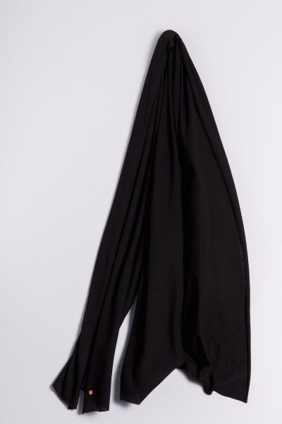 Étole cachemire en tricot fin noir