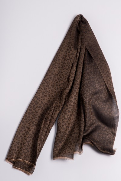 Water-Pashmina Leopard stucco