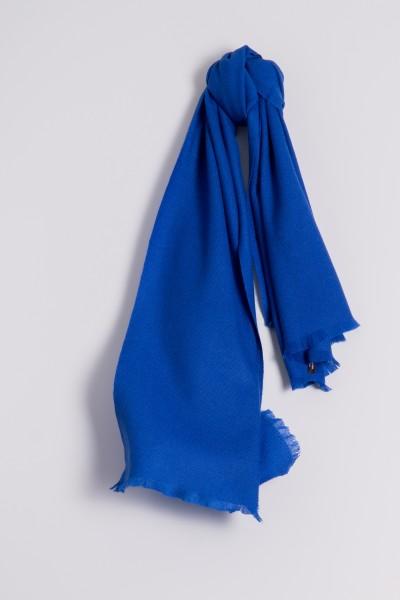 Pashmina 100% cachemire bleu roi