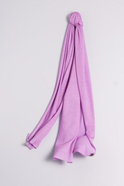 Écharpe cachemire en tricot fin lilas clair