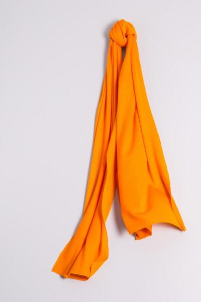 Écharpe cachemire en tricot fin orange