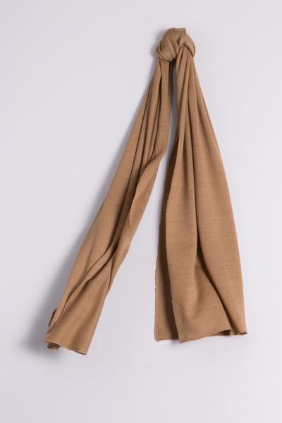 Écharpe cachemire en tricot fin hazelnut