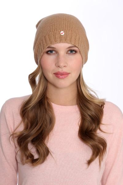 Fine Knit Cashmere Cap camel