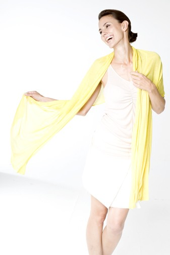 Jersey Silk Shawl lemon