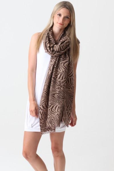 Pashmina Couture Print Zebra stucco