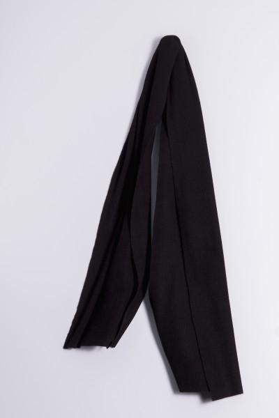Écharpe cachemire côtelé noir