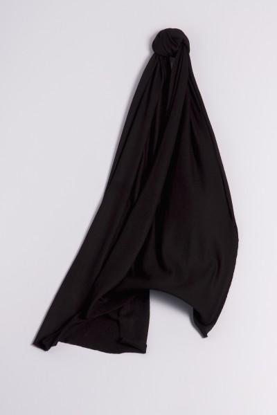 Écharpe cachemire en tricot fin noir