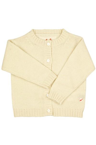 Jersey Cardigan pour bébés en offwhite