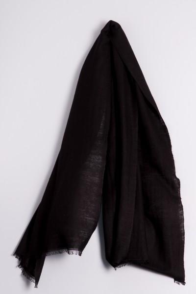 Cachemire écharpe handspun noir