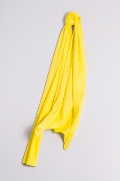 Écharpe cachemire en tricot fin jaune