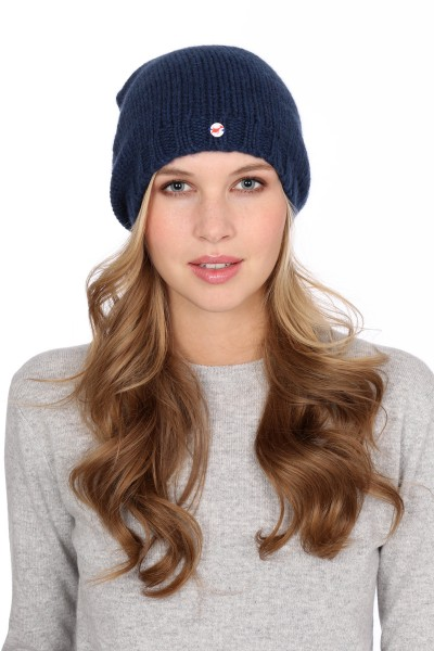 Coarse Knit Cashmere Cap astral