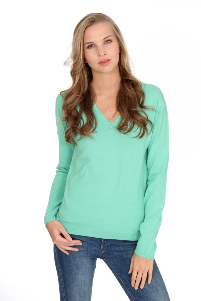 Pull-over en cachemire V-Neck mint
