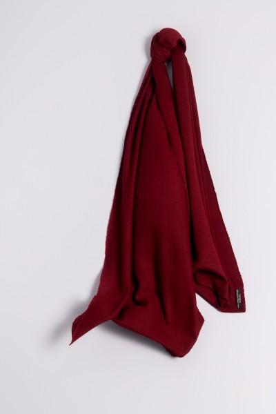Écharpe cachemire en tricot fin bordeaux