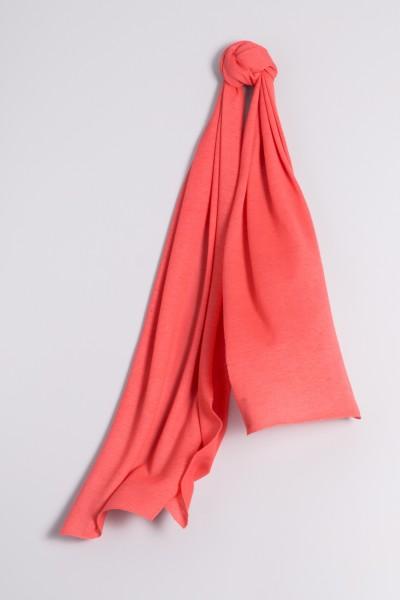 Écharpe cachemire en tricot fin corail