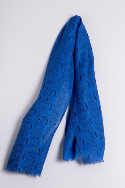 Écharpe côtelée de Francfort strong blue