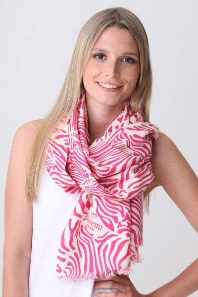 Pashmina Couture Print Zebra beetroot purple