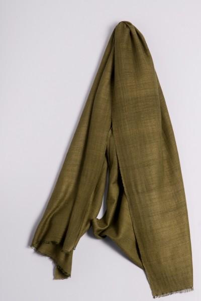 Cachemire écharpe handspun vert olive