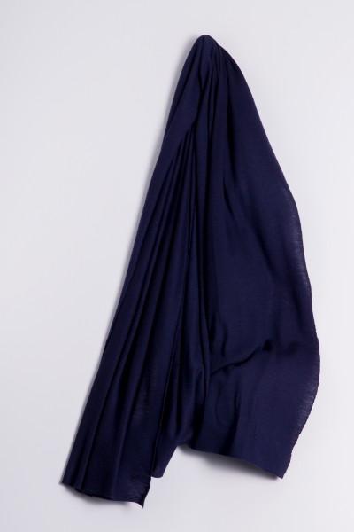 Étole cachemire en tricot fin marine