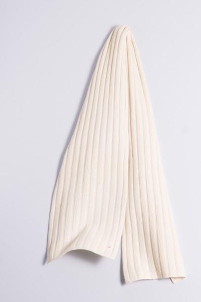 Écharpe en tricot 100% cachemire à 4 couches offwhite
