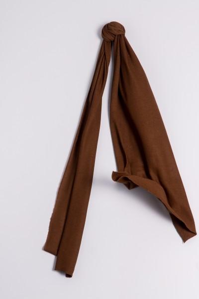 Écharpe cachemire en tricot fin chocolat