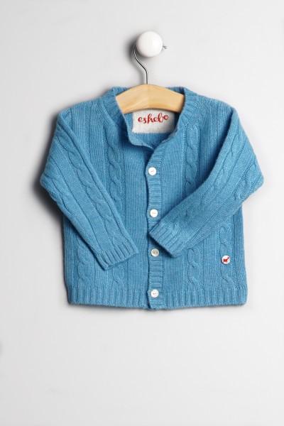 Cardigan pour bébés en air blue