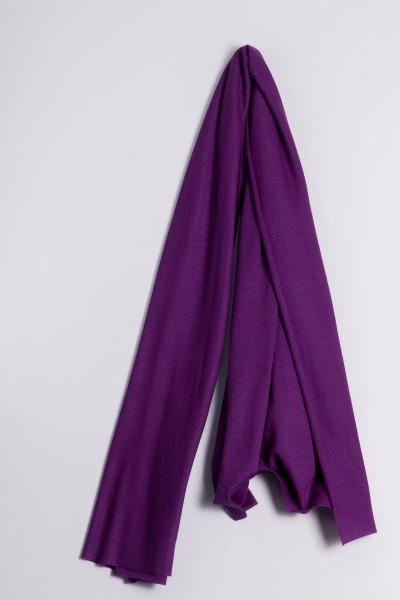 Étole cachemire en tricot fin lilas
