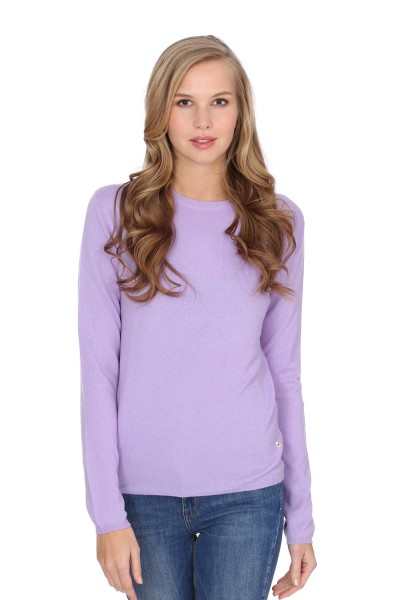 Pull-over en cachemire Round-Neck lilas clair