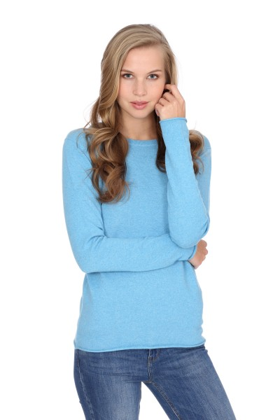 Pull-over en cachemire Longsleeve air blue