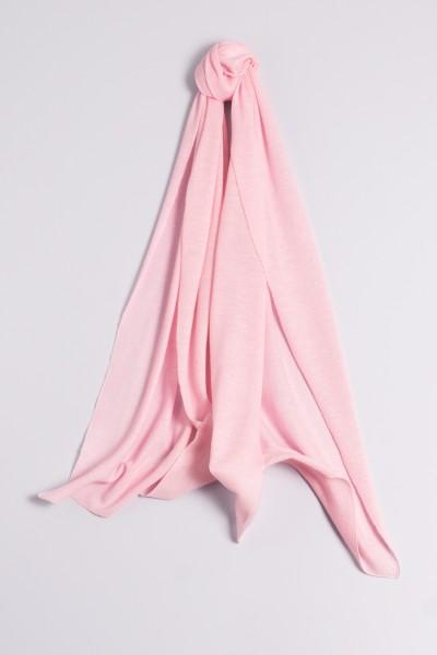 Écharpe cachemire en tricot fin rose