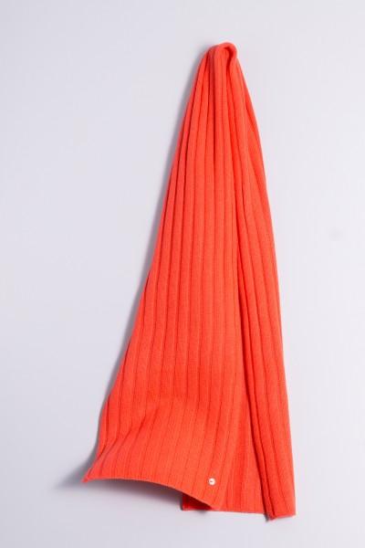 Écharpe en tricot 100% cachemire à 4 couches fluorescent pink