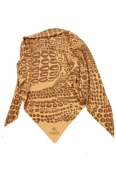 Triangle Croco camel melange / chocolate