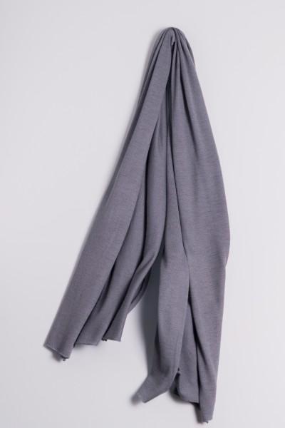 Étole cachemire en tricot fin anthracite