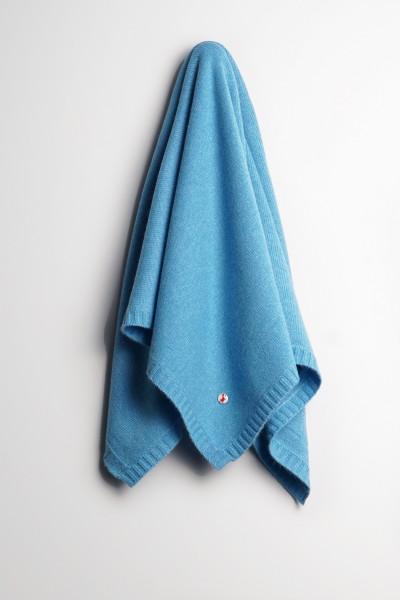 Baby Kaschmirdecke 80x80cm saxe blue
