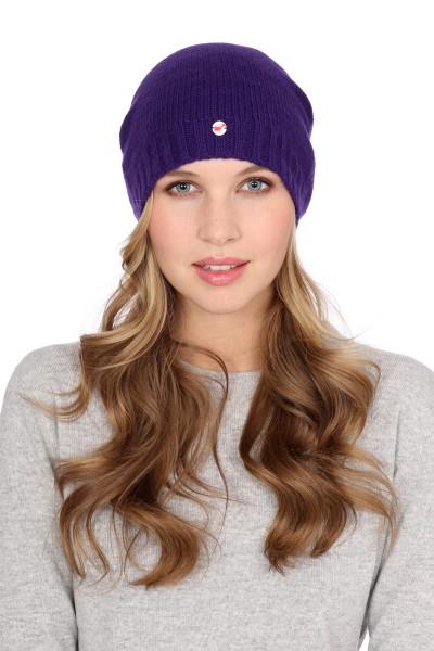Fine Knit Cashmere Cap lila