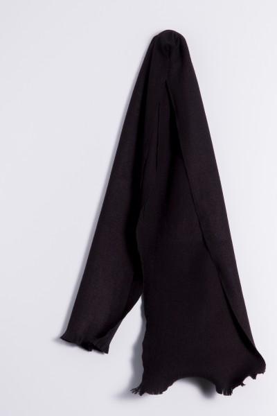 Écharpe d´hiver 100% cachemire noir