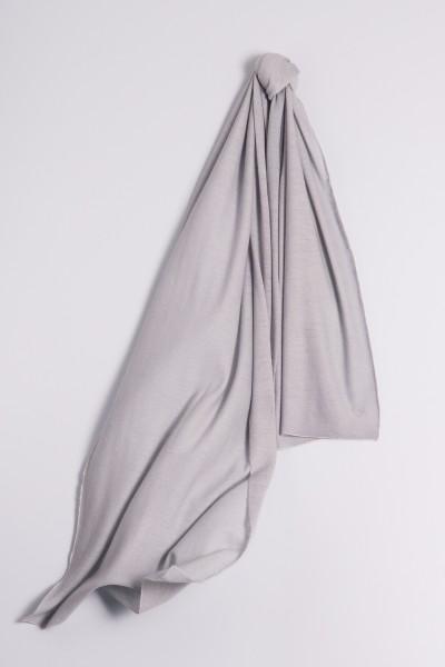 Écharpe cachemire en tricot fin gris
