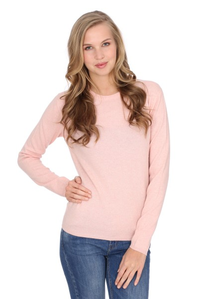 Pull-over en cachemire Round-Neck baby pink