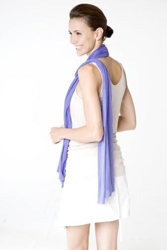 Jersey Silk Shawl blue iris